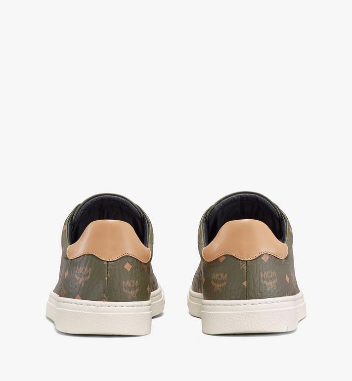 MCM Men's Terrain Lo Sneakers in Visetos Green MEXAAMM11JH041 Alternate View 3