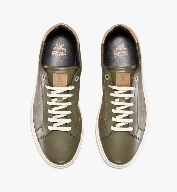 MCM Men's Terrain Lo Sneakers in Visetos Green MEXAAMM11JH041 Alternate View 5