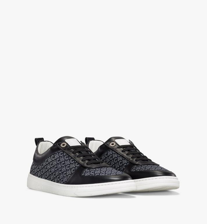 MCM Men's Terrain Lo Sneakers in Diagonal Monogram Canvas Black MEXAAMM12BK042 Alternate View 1