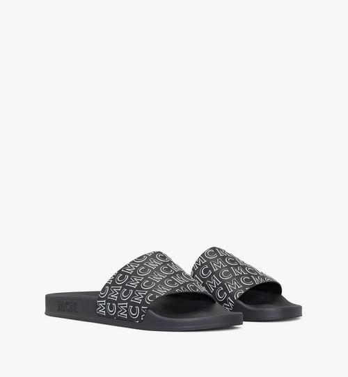 Men's Diagonal Monogram Rubber Slides