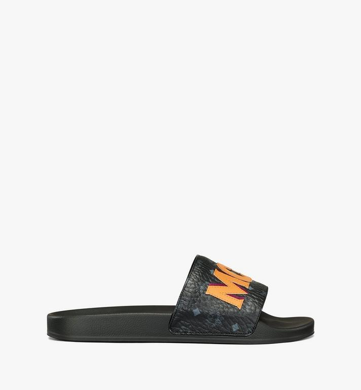 MCM Men's MCM Monogram Slides Black MEXAAMM16BK043 Alternate View 4