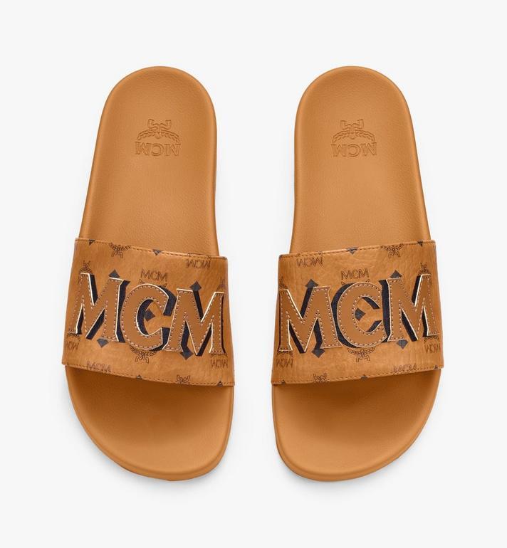 MCM Men's MCM Monogram Slides Cognac MEXAAMM16CO043 Alternate View 5
