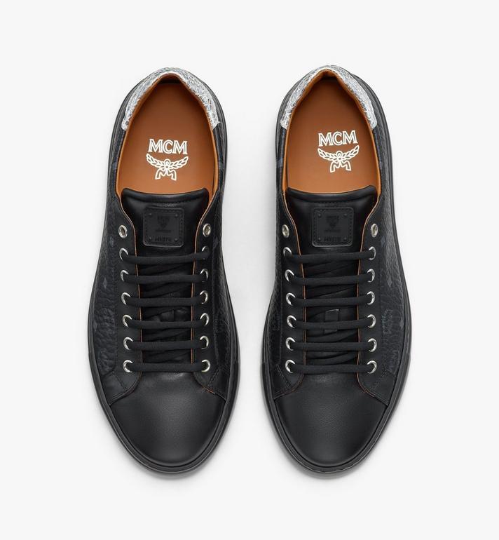 MCM Men's Low-Top Sneakers in Visetos Black MEXASMM10BK042 Alternate View 5