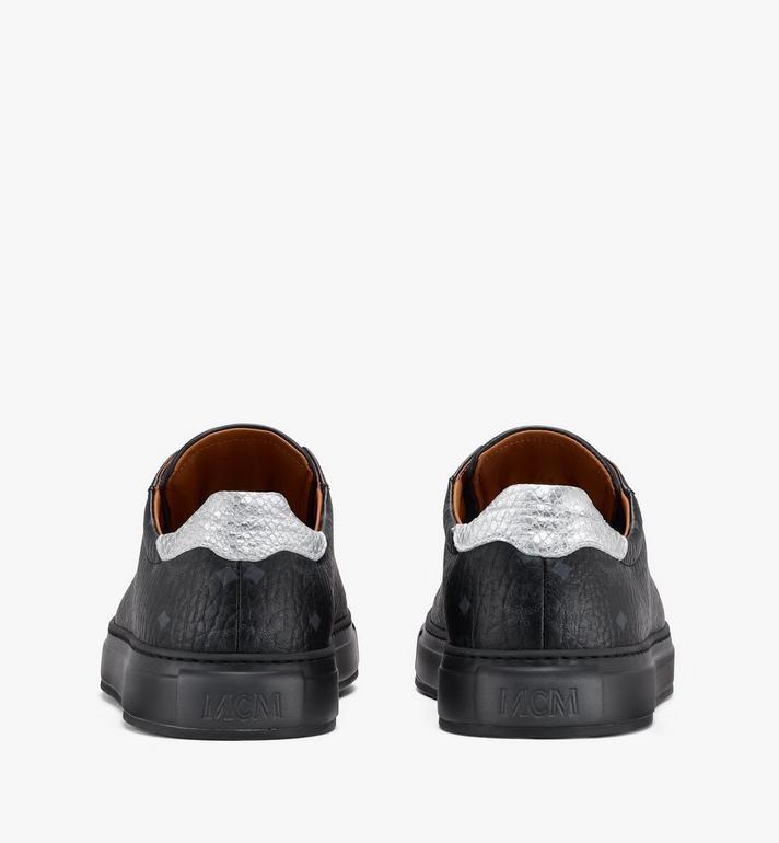 MCM Men's Low-Top Sneakers in Visetos Black MEXASMM10BK043 Alternate View 3