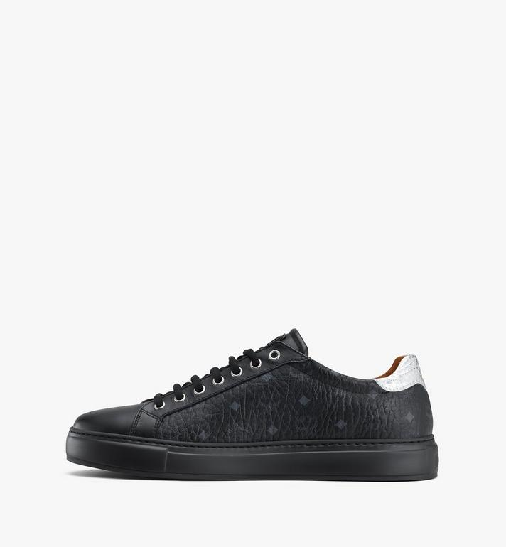 MCM Men's Low-Top Sneakers in Visetos Black MEXASMM10BK043 Alternate View 4