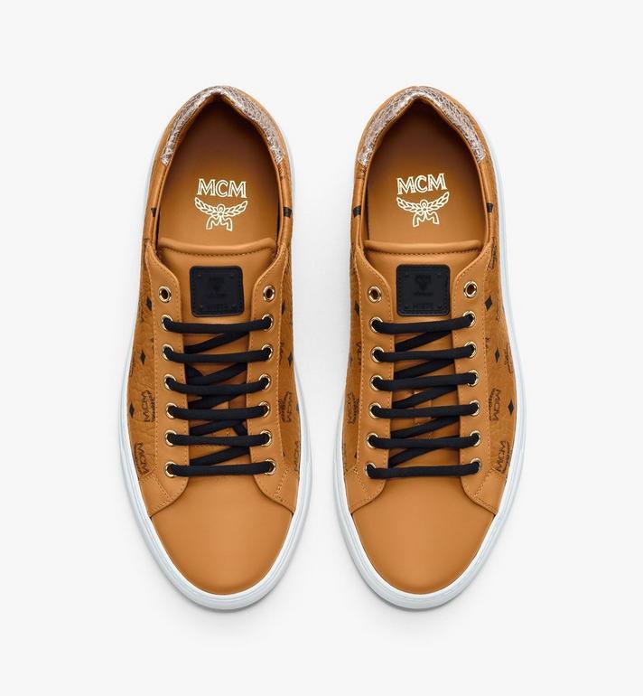MCM Men's Low-Top Sneakers in Visetos Cognac MEXASMM10CO042 Alternate View 5