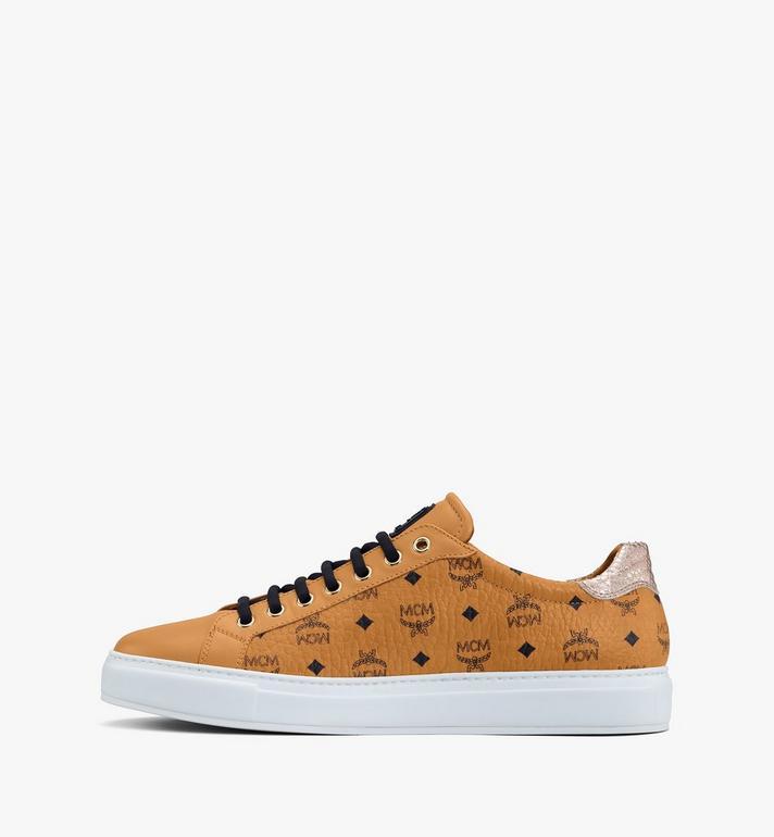 MCM Men's Low-Top Sneakers in Visetos Cognac MEXASMM10CO044 Alternate View 4