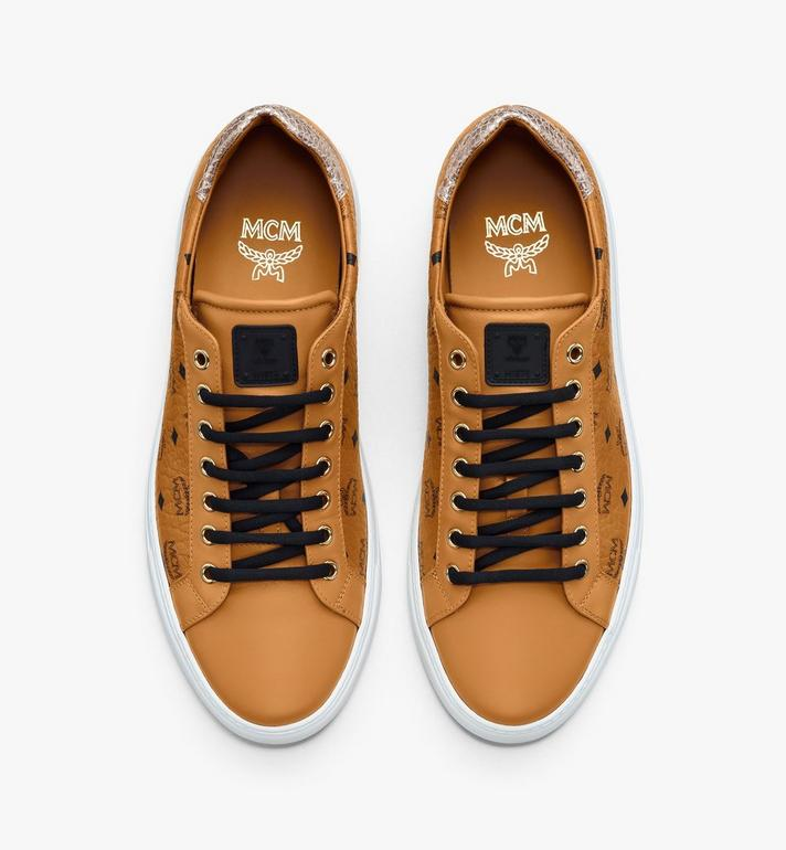 MCM Men's Low-Top Sneakers in Visetos Cognac MEXASMM10CO044 Alternate View 5