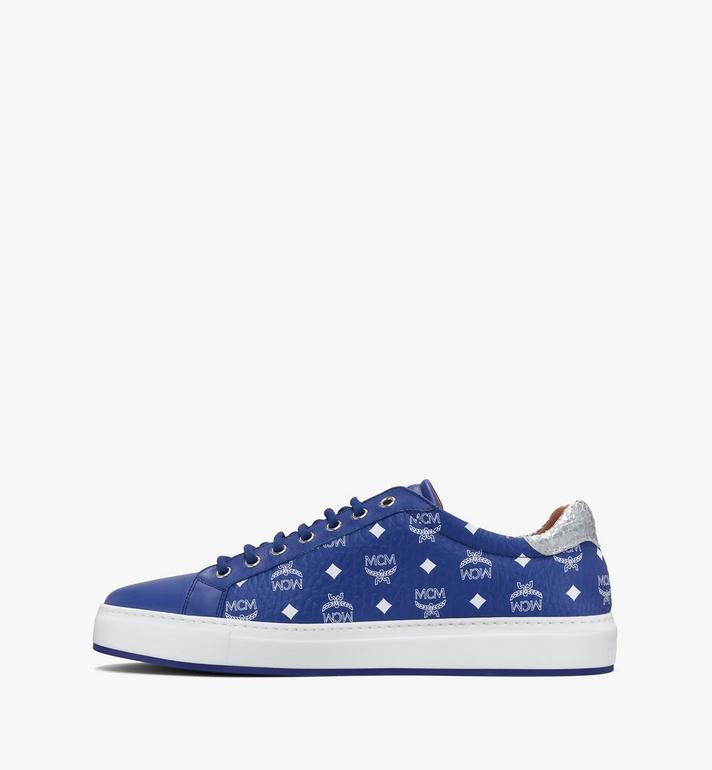 MCM Men's Low-Top Sneakers in Visetos Blue MEXASMM10H1044 Alternate View 4