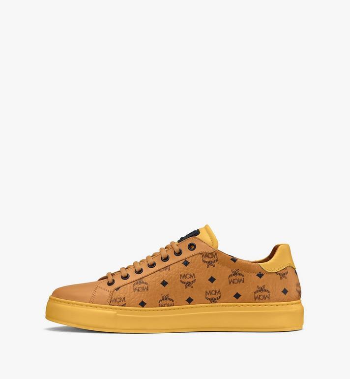 MCM Men's Classic Low-Top Sneakers in Visetos Cognac MEXASMM15CO042 Alternate View 4