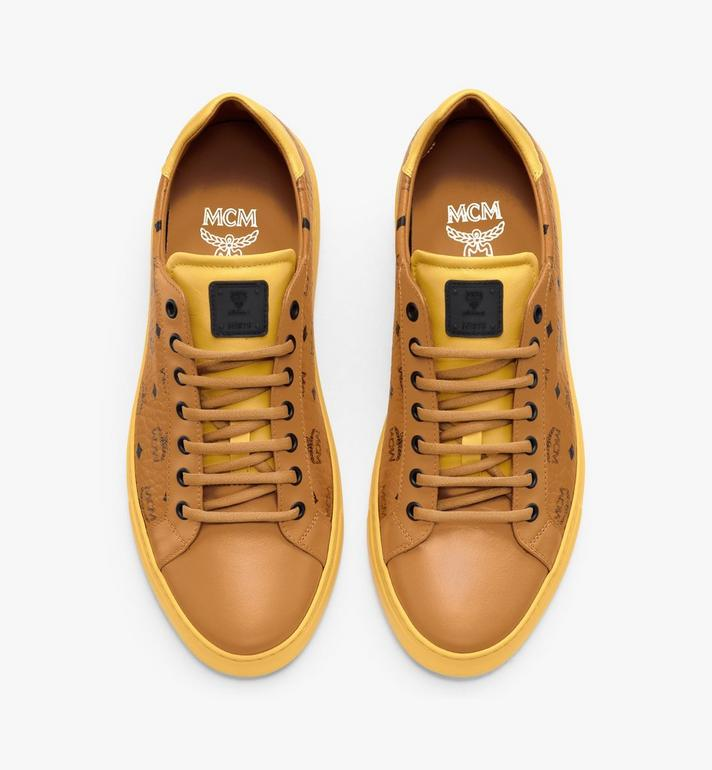 MCM Men's Classic Low-Top Sneakers in Visetos Cognac MEXASMM15CO042 Alternate View 5