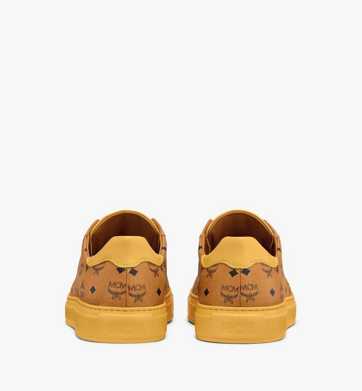 MCM Men's Classic Low-Top Sneakers in Visetos Cognac MEXASMM15CO044 Alternate View 3