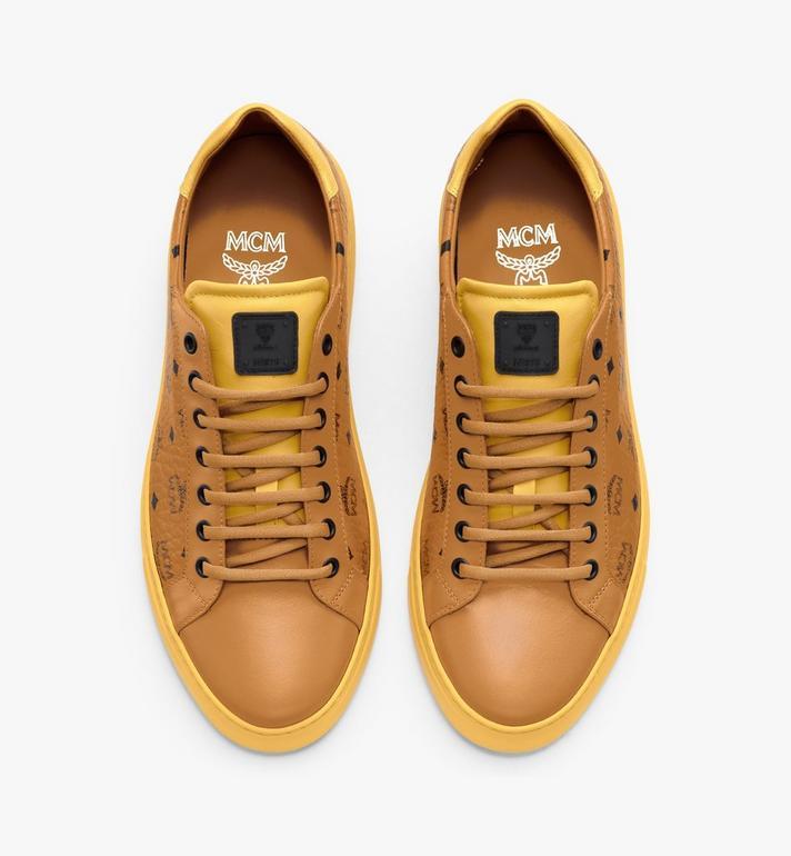 MCM Men's Classic Low-Top Sneakers in Visetos Cognac MEXASMM15CO044 Alternate View 5