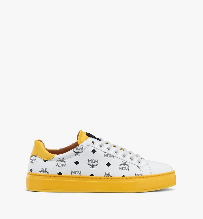 MCM Men's Classic Low-Top Sneakers in Visetos White MEXASMM15WT041 Alternate View 4
