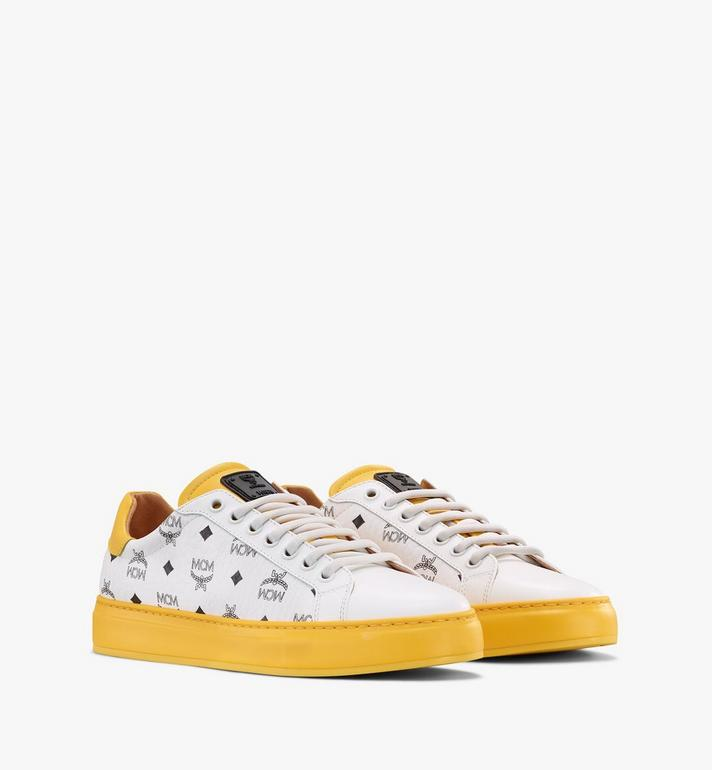 MCM Men's Classic Low-Top Sneakers in Visetos Alternate View