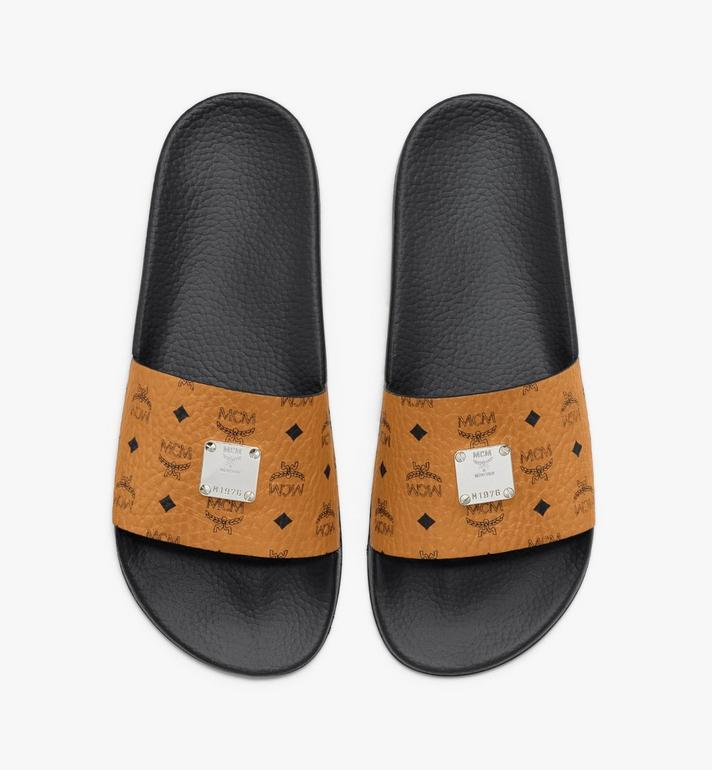 MCM Men's Visetos Slides Cognac MEXASMM19CO042 Alternate View 5