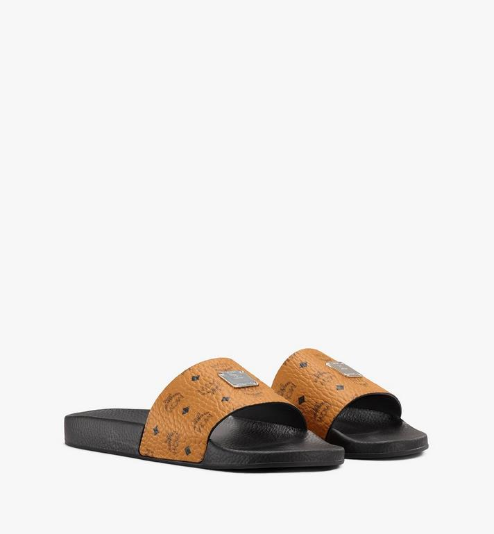 MCM Men's Visetos Slides Alternate View
