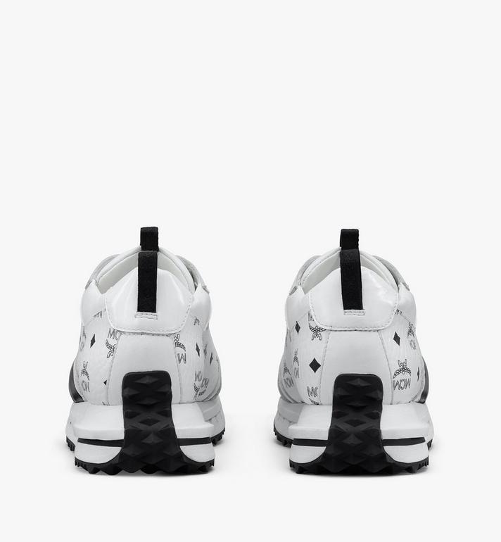 MCM Mach 76 Sneaker in Visetos für Herren White MEXASMM35WT041 Alternate View 3
