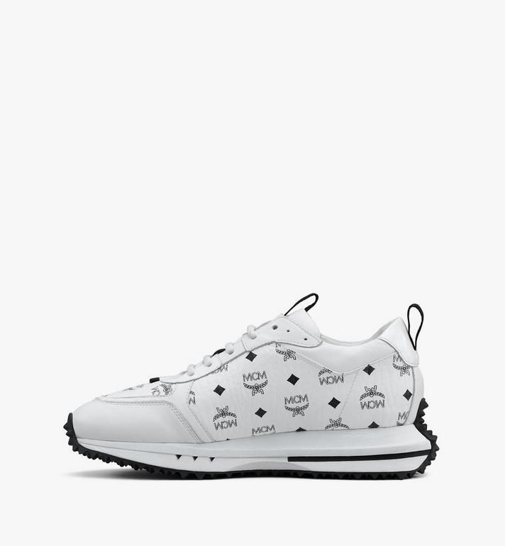 MCM Men's Mach 76 Sneakers in Visetos White MEXASMM35WT044 Alternate View 4