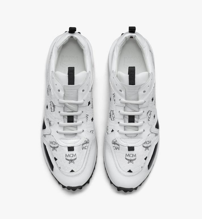 MCM Men's Mach 76 Sneakers in Visetos White MEXASMM35WT044 Alternate View 5