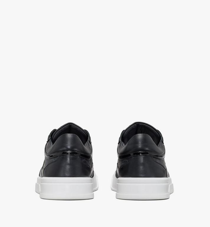 MCM Men's Skyward Lo Sneakers in Visetos Black MEXASMM37BK041 Alternate View 3
