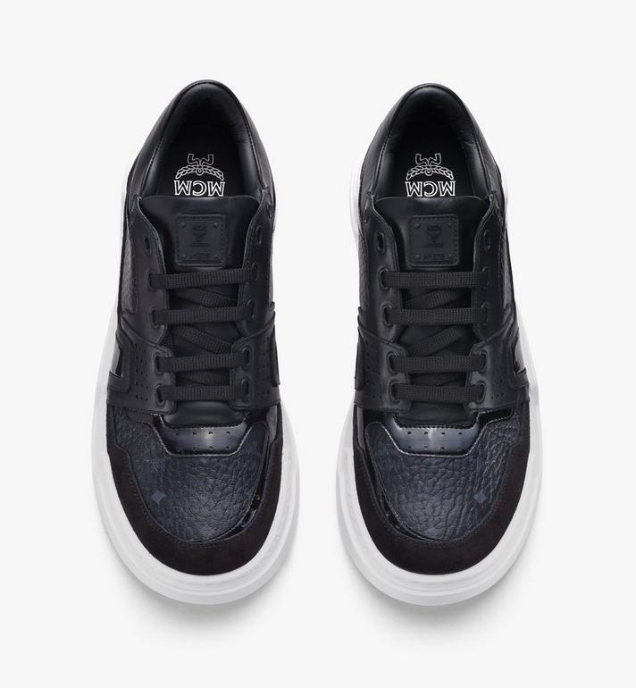 MCM Men's Skyward Lo Sneakers in Visetos Black MEXASMM37BK041 Alternate View 5