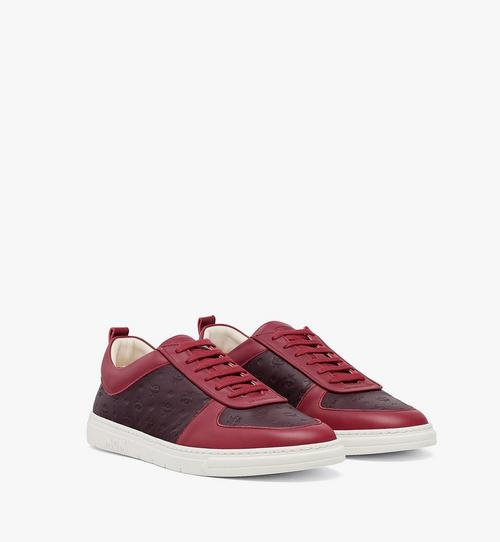 男士環保 Terrain 低筒縮寫字母圖案皮革運動鞋