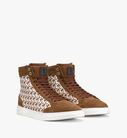 Men's Terrain Hi Sneakers in Diagonal Monogram Canvas