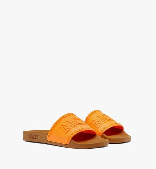 รองเท้าแตะยางลายโลโก้ขนาดใหญ่สำหรับผู้ชาย
