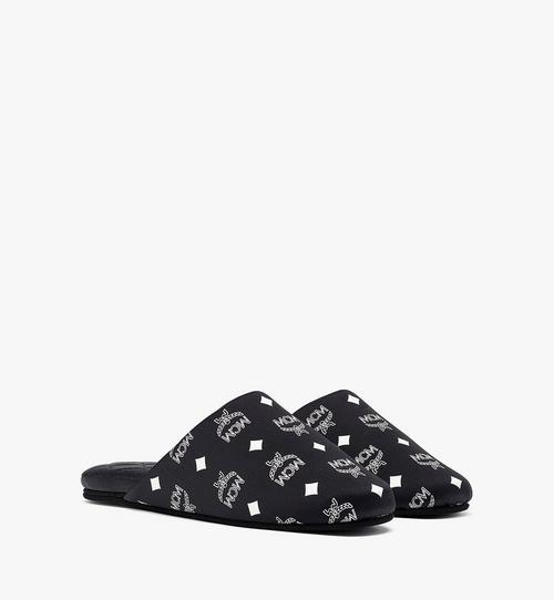 รองเท้าสลิปเปอร์ผ้าไหมผสมซาตินลายโมโนแกรม