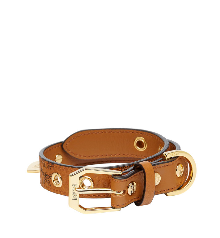MCM Dog Collar in Visetos Alternate View