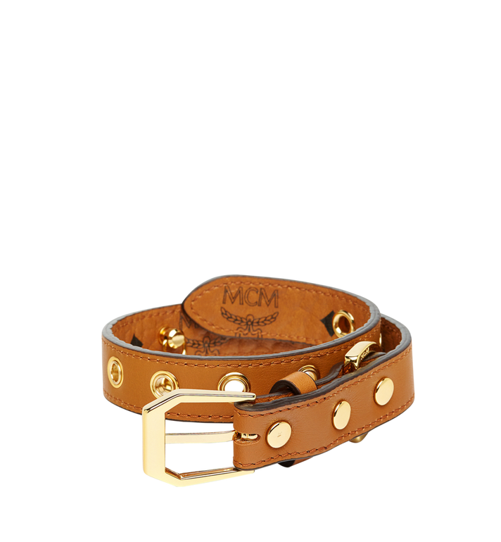 MCM Dog Collar in Visetos Cognac MEZ7AVP04CO001 Alternate View 2