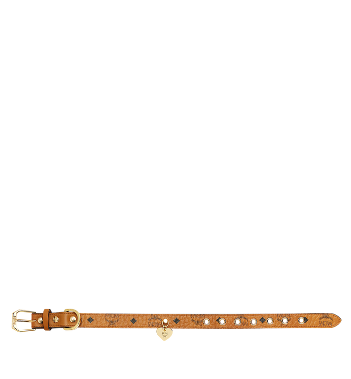 MCM Dog Collar in Visetos Cognac MEZ7AVP04CO001 Alternate View 3