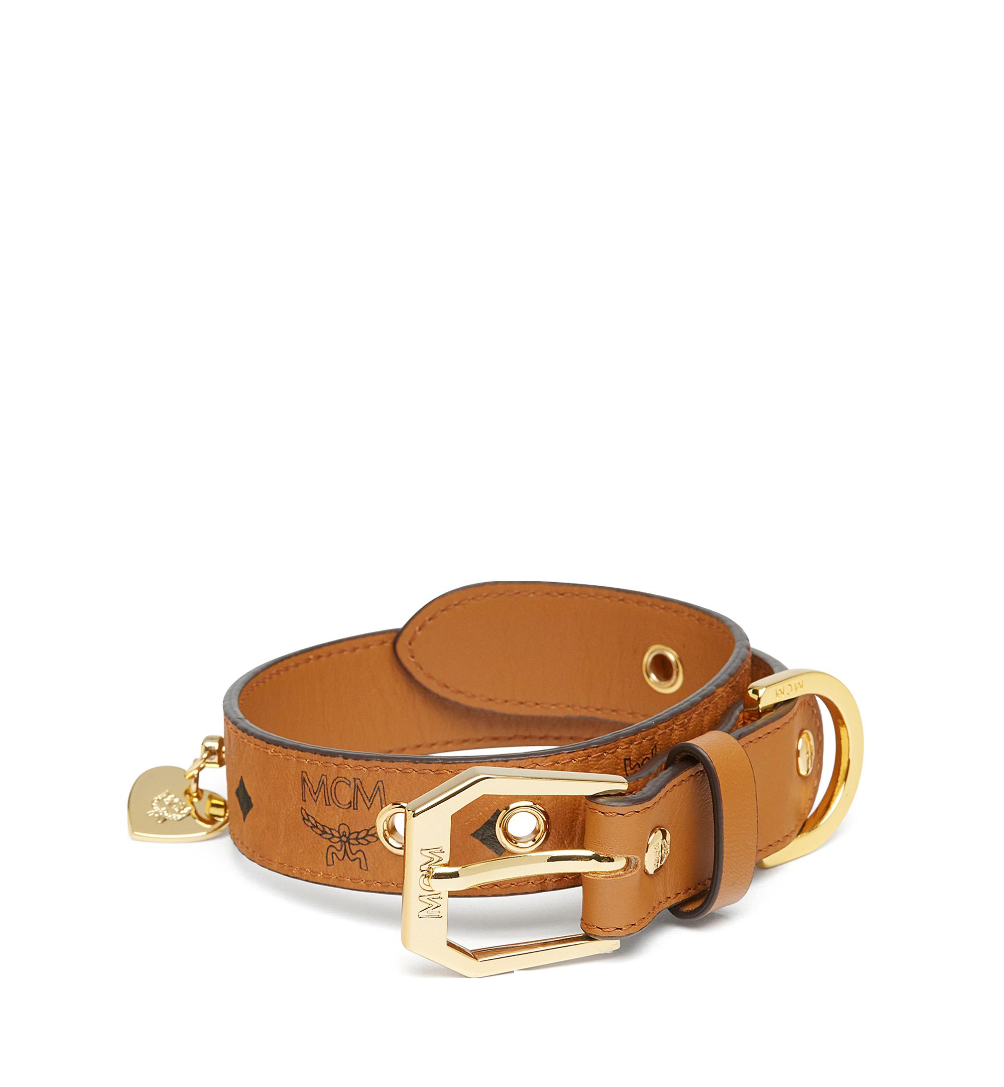 MCM Dog Collar in Visetos Cognac MEZ7AVP05CO001 Alternate View 1