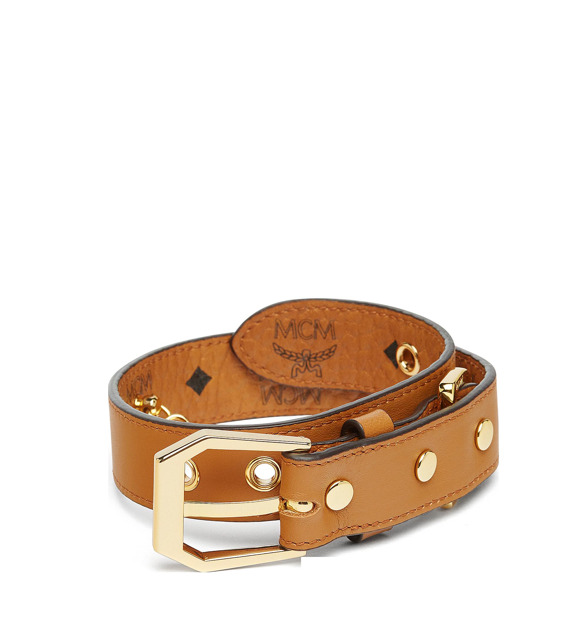 MCM Dog Collar in Visetos Cognac MEZ7AVP05CO001 Alternate View 2