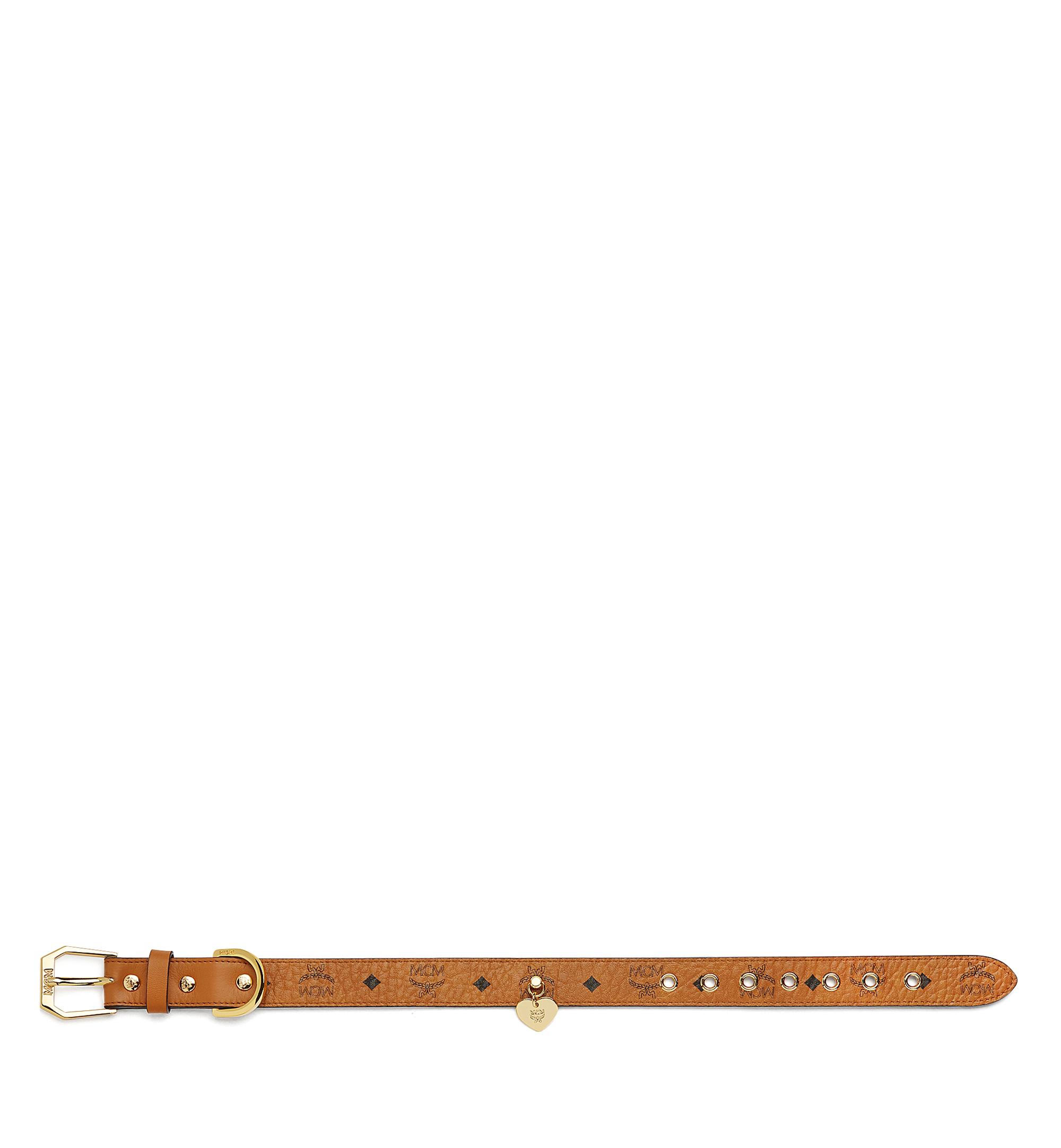 MCM Dog Collar in Visetos Cognac MEZ7AVP05CO001 Alternate View 3
