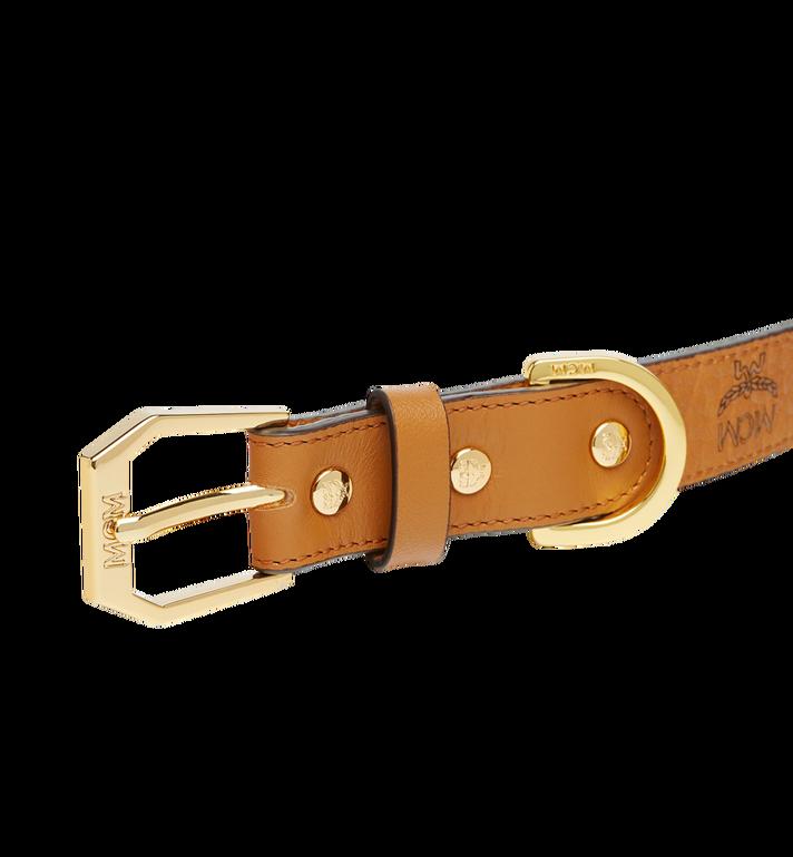 MCM Dog Collar in Visetos Cognac MEZ7AVP05CO001 Alternate View 4