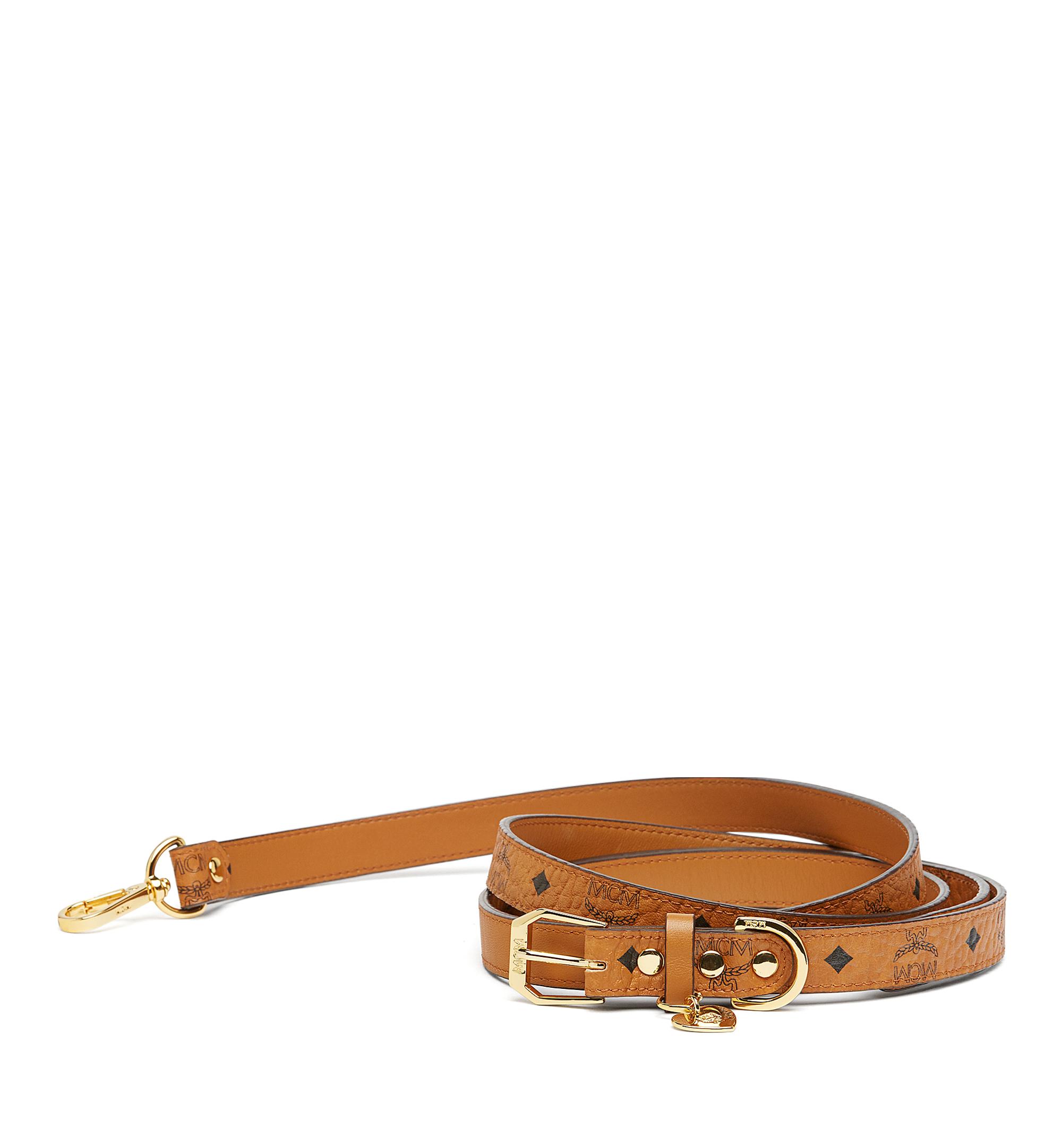 MCM Dog leash in Visetos Cognac MEZ7AVP07CO001 Alternate View 1
