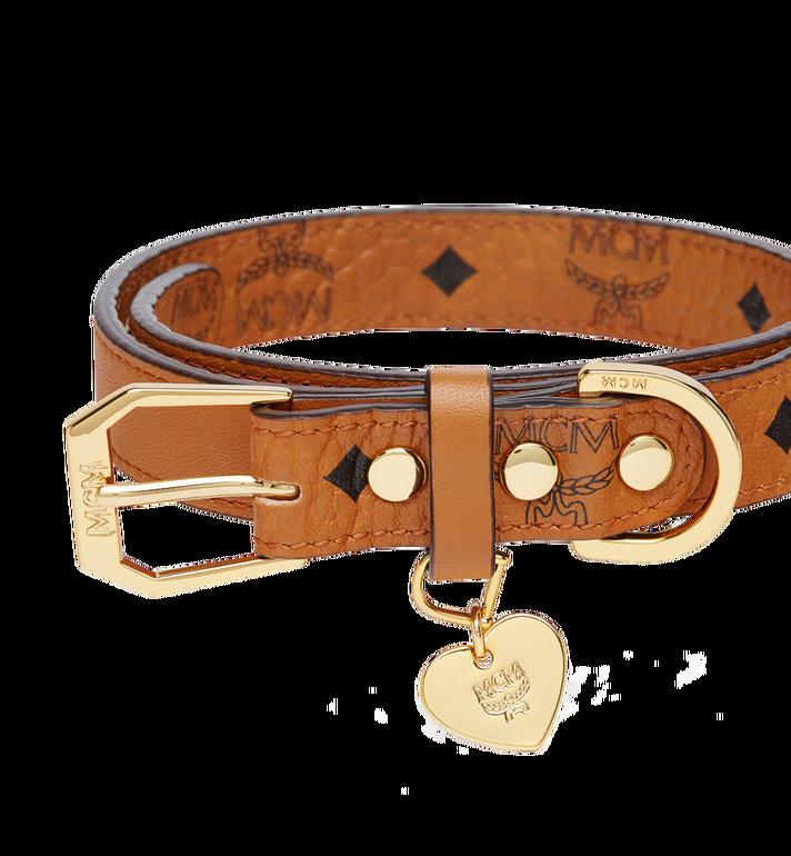 MCM Dog leash in Visetos Cognac MEZ7AVP07CO001 Alternate View 3