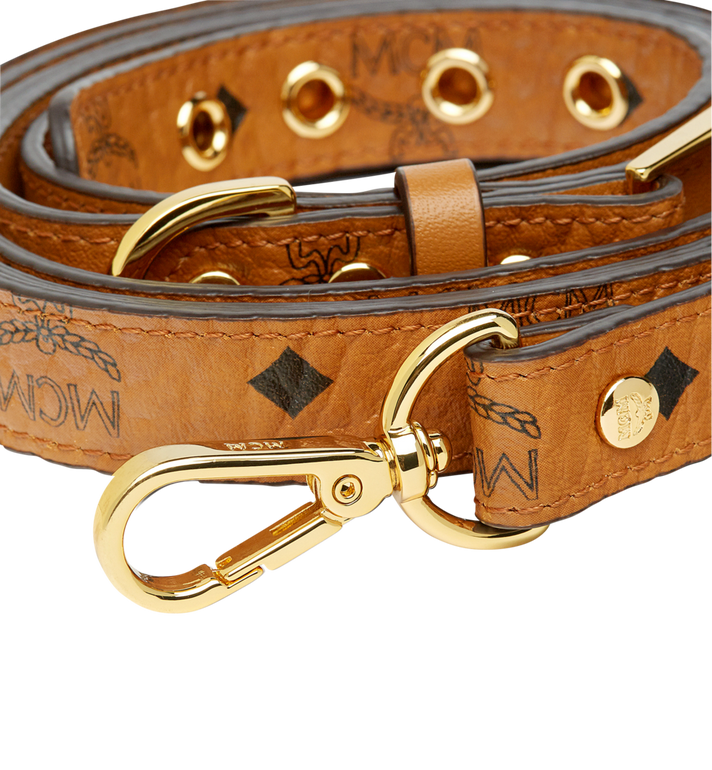 MCM Dog leash in Visetos Cognac MEZ7AVP07CO001 Alternate View 4
