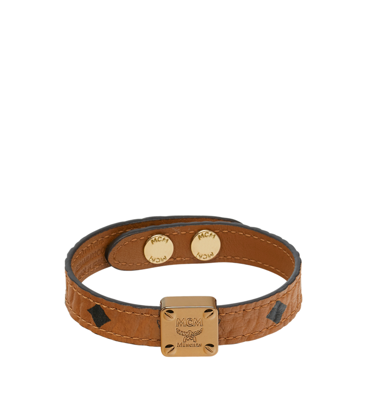 MCM Reversible Logo Plate Bracelet in Visetos Alternate View