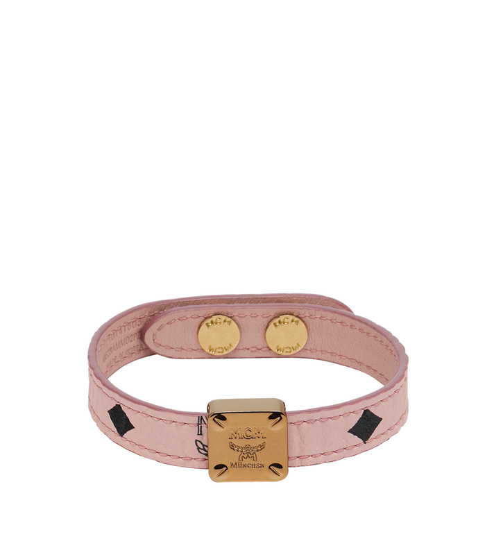 MCM BRACELET RÉVERSIBLE EN VISETOS AVEC PLAQUE LOGO Alternate View