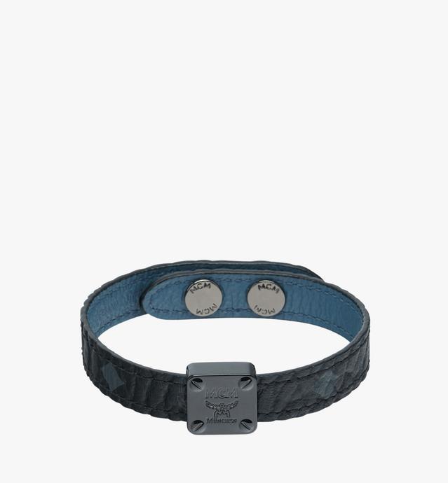 Reversible Logo Plate Bracelet in Visetos