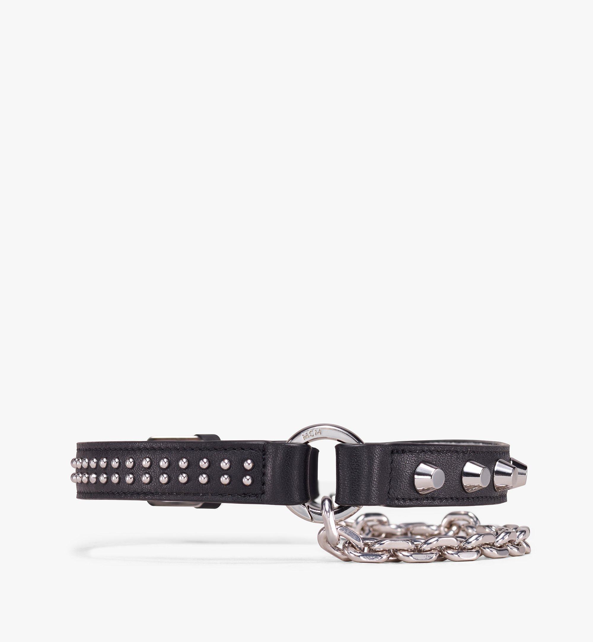 MCM Studded Leather Bracelets With Chain  MEZ9AMM14BK001 Alternate View 2
