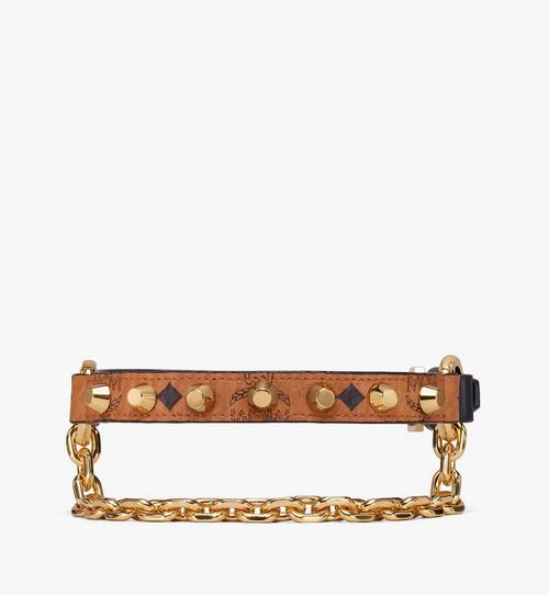 Studded Leather Bracelets With Chain