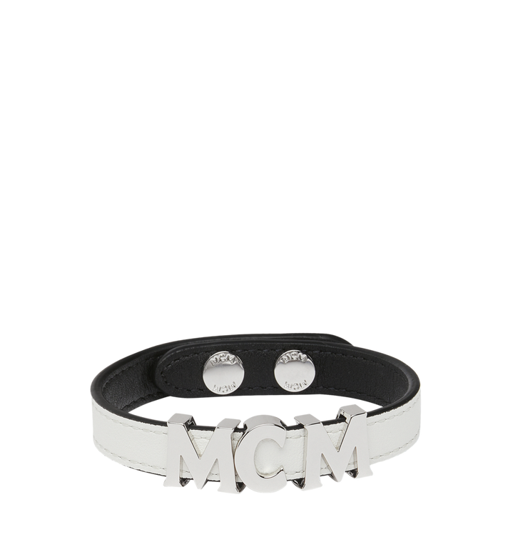 MCM Reversible Letter Bracelet in Leather Alternate View 2