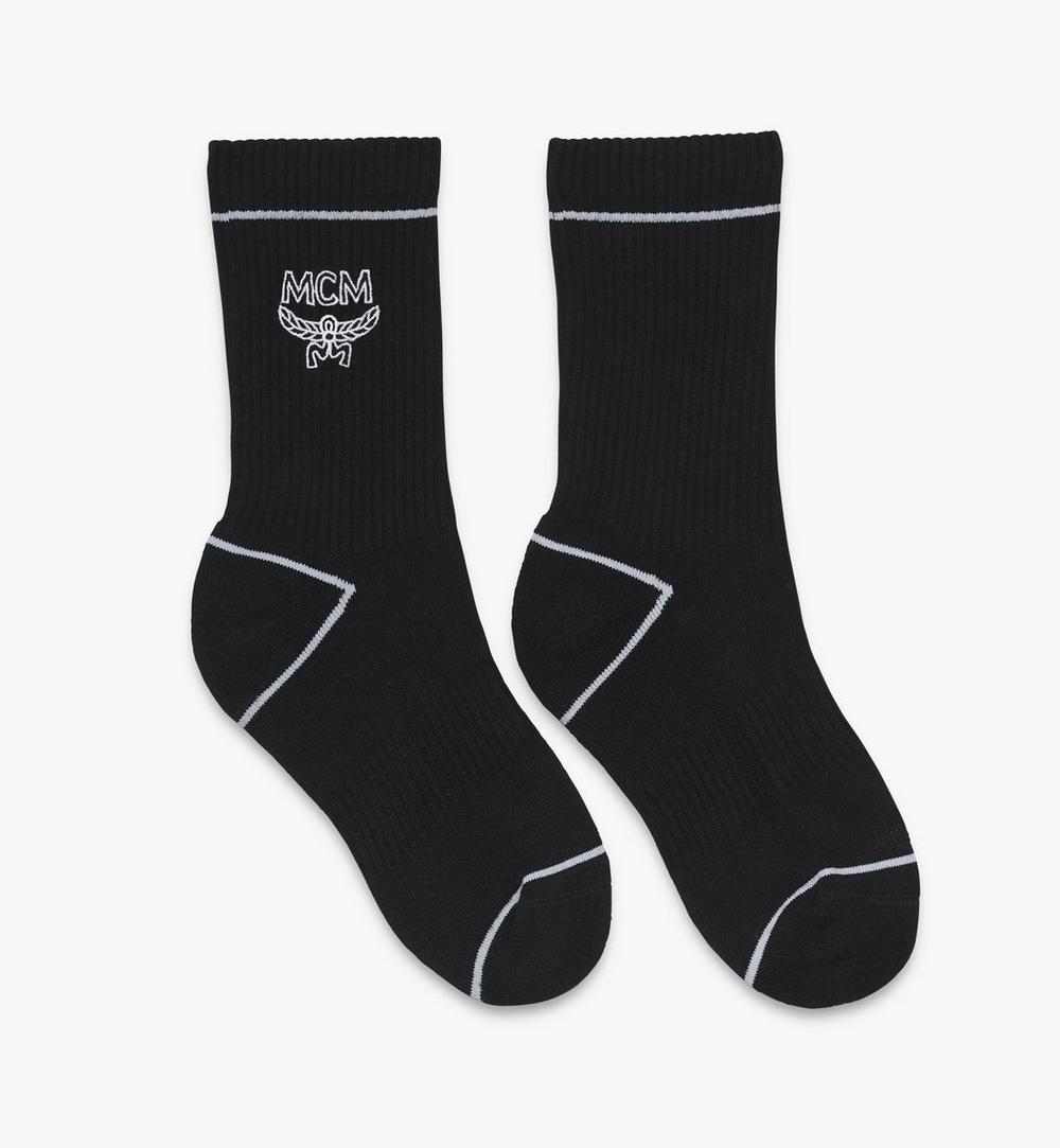 ถุงเท้าผ้าฝ้ายคลาสสิกพิมพ์โลโก้ 1