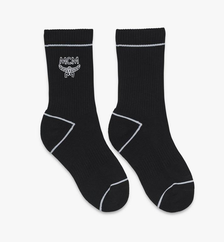 MCM Classic Logo Cotton Socks Black MEZASBM01BK0ML Alternate View 1