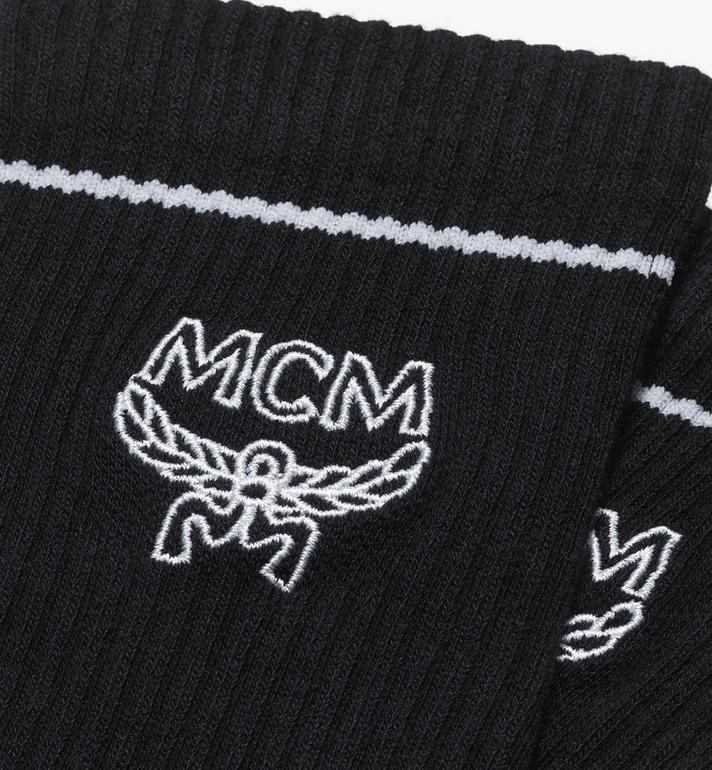 MCM Classic Logo Cotton Socks Black MEZASBM01BK0ML Alternate View 2