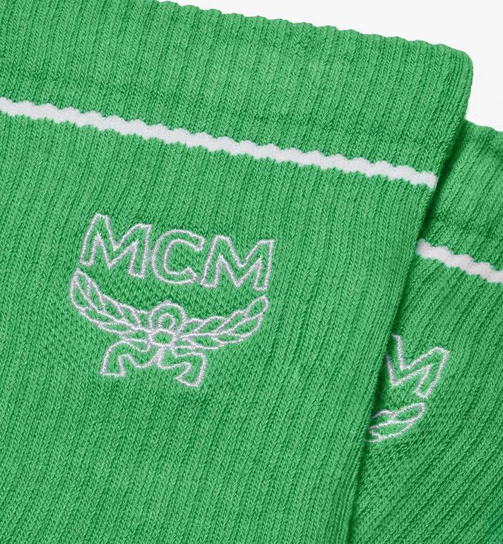 MCM Classic Logo Cotton Socks Green MEZASBM01GR0SM Alternate View 2
